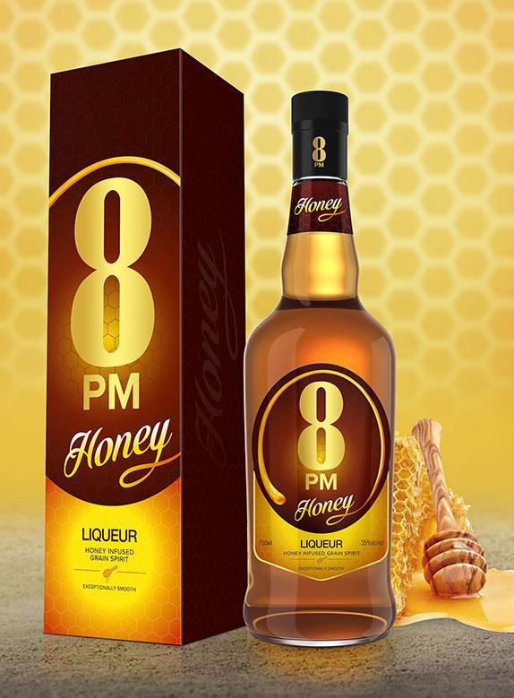 8PM Honey Liqueur. 750ml
