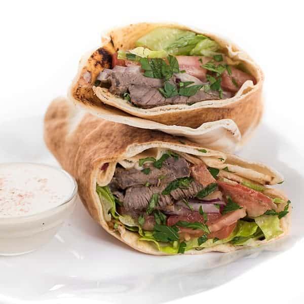 Beef Shawarma with Tahini Sauce Pita Recipe