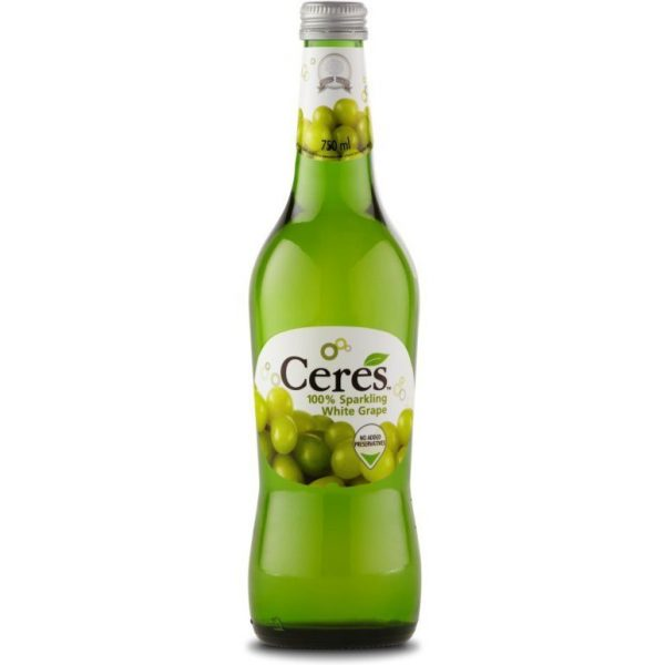 CERES 100 PERCENT SPARKING WHITE GRAPE 272ML 6001240222706