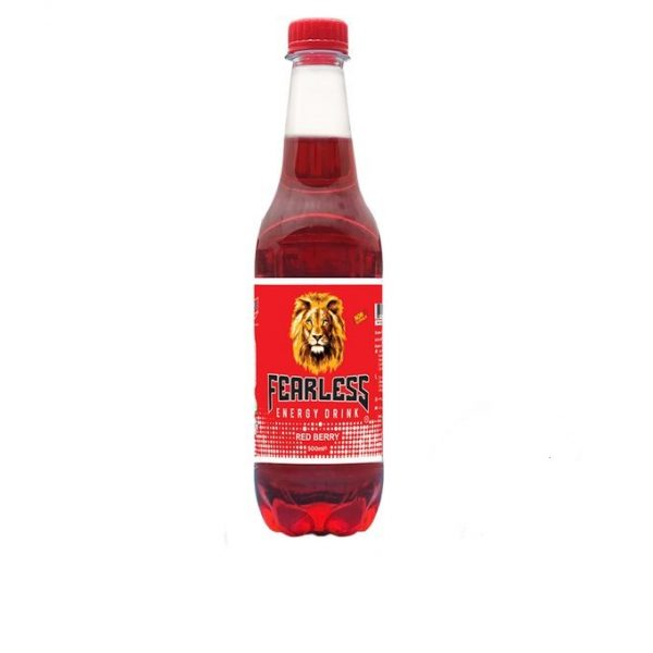FEARLESS ENERGY DRINK RED BERRY 500ML