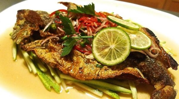 Fried fish sauce