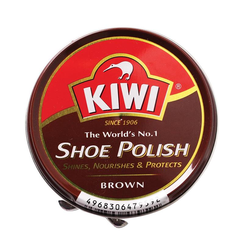 KIWI SHOE POLISH BROWN 50ML