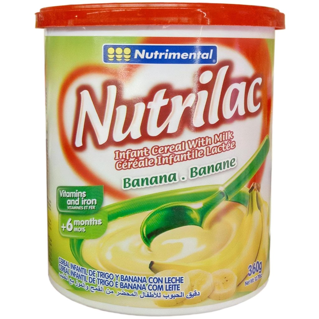 NutriLac banana.banane Infant Cereal.360g