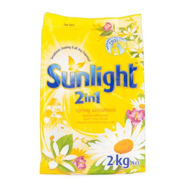 SUNLIGHT SPRING SENSATION YELLOW DETERGENT 2KG 3