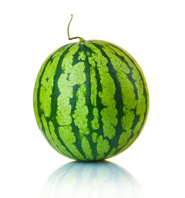 big ripe watermelon isolated white 80510 583