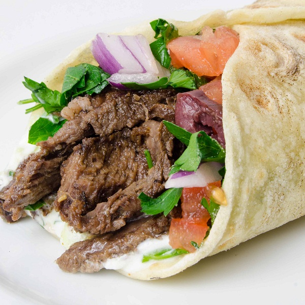 chicken and beef shawarma