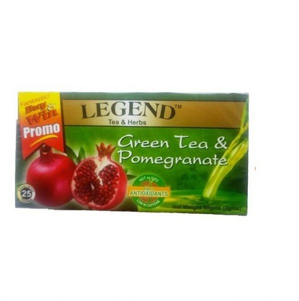 Legend Tea Herbs Green Tea Pomegranate