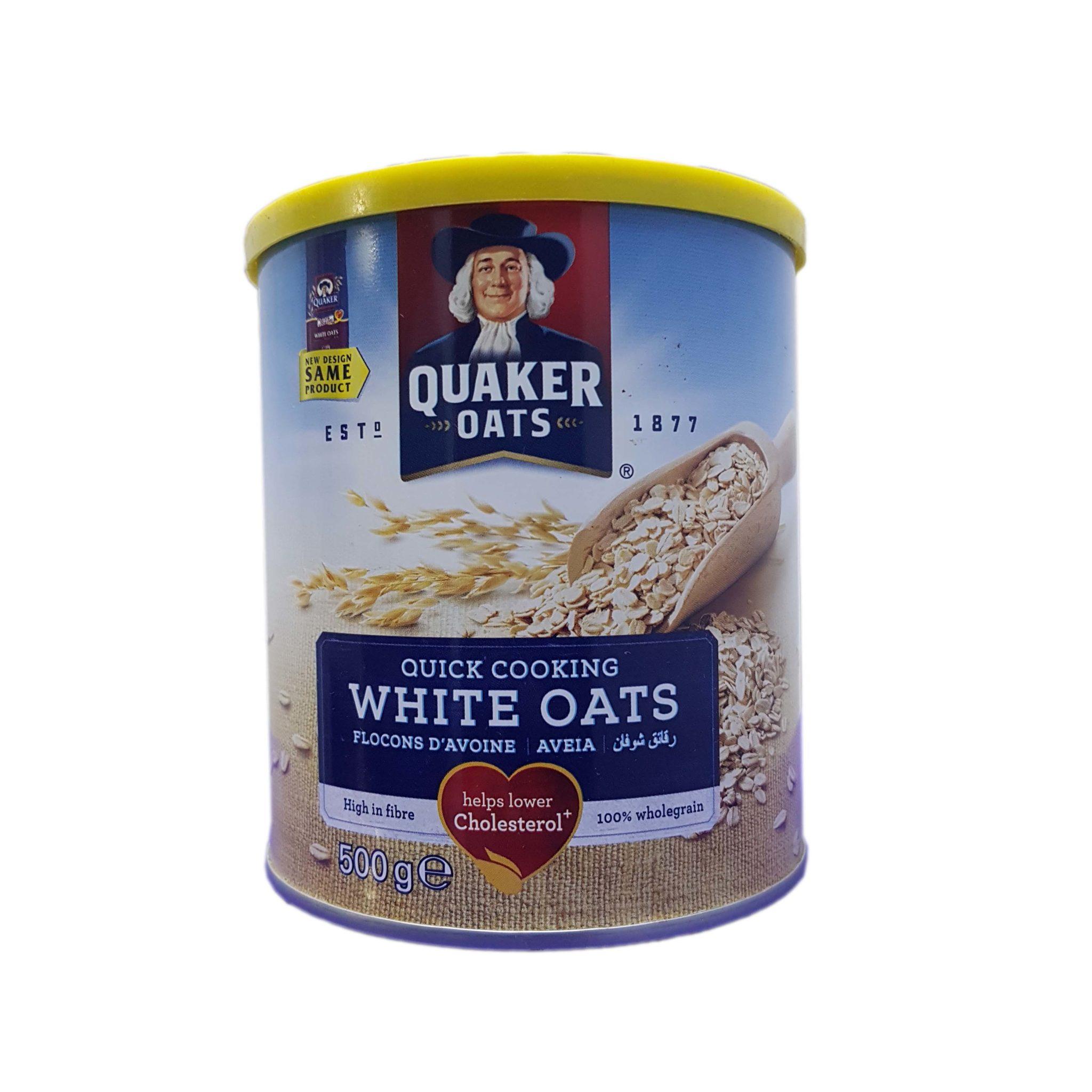 Quaker White Oats Tin 500g