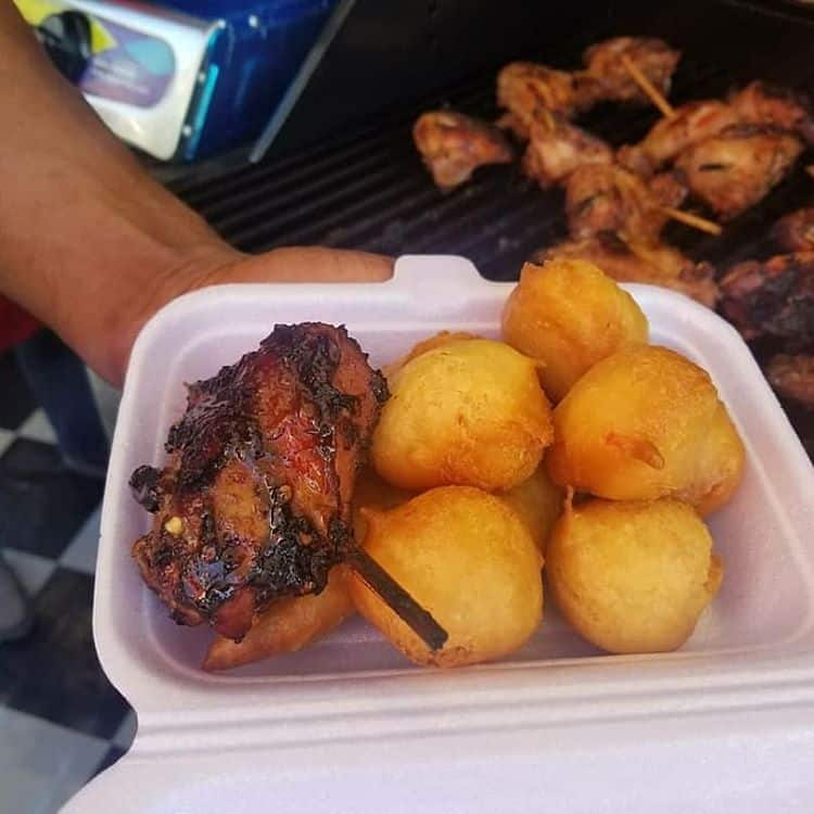 Puff Puff and Grilled Chicken