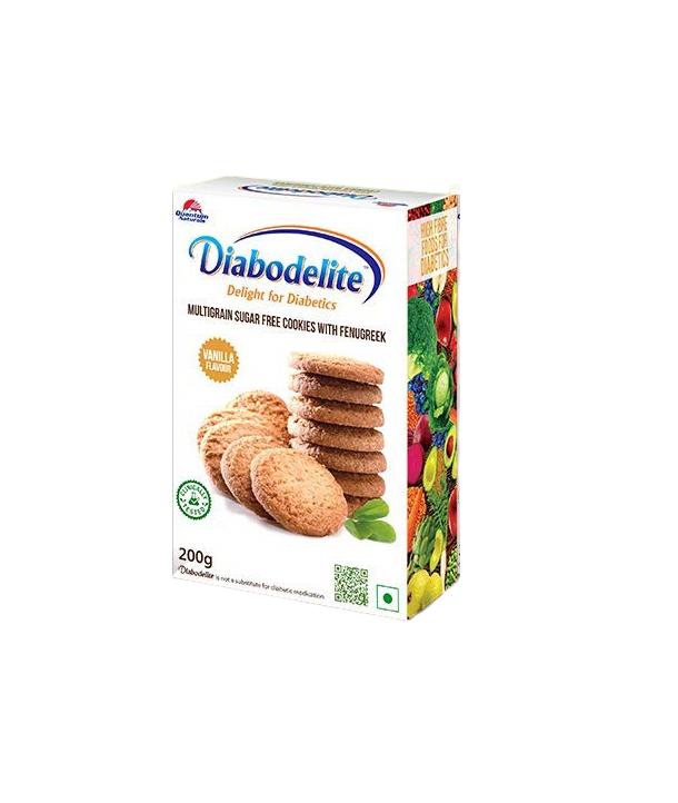 Diabodelite Multi Grain Sugar Free Cookies 200 Grams Chocolate Flavour