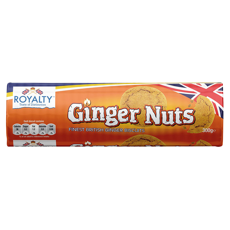 Royalty Ginger Nut Biscuits - 300g