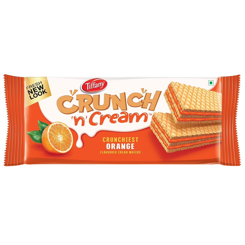 Tiffany Crunch n Cream Orange Wafers New Look 76g