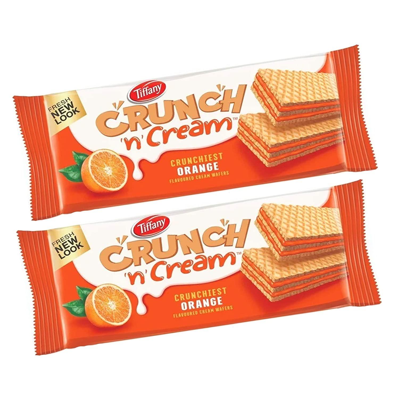 Tiffany Crunch n Cream Orange Wafers New Look