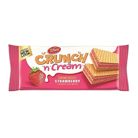 Tiffany Crunch n Cream Strawberry Wafers - New Look