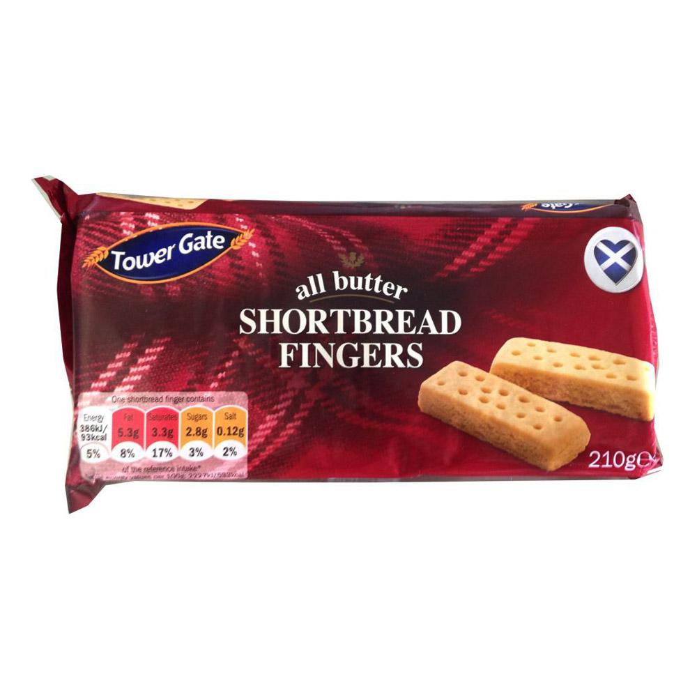 Towe Gate all butter Short Bread Fingers 210g