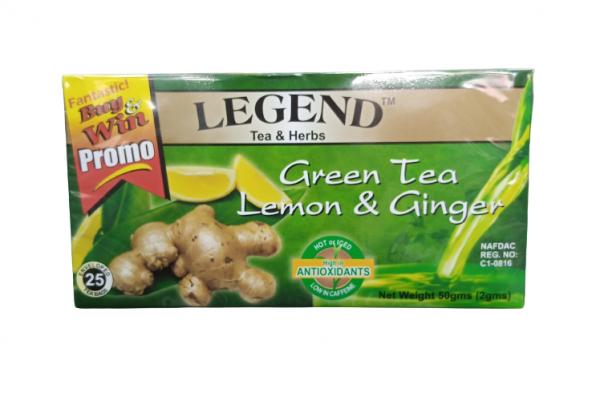 Legend Tea Herbs Green Tea Lemon Ginger 50g