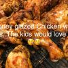 honey glazed chicken with fries