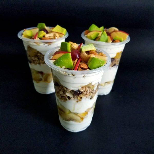 juicenation greek yoghurt parfait.